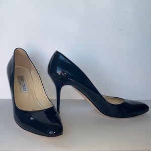 Jimmy Choo Navy patent leather Gilbert